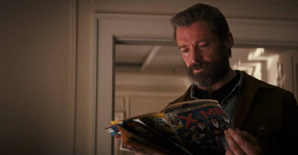 Logan reads an X-Men comic book