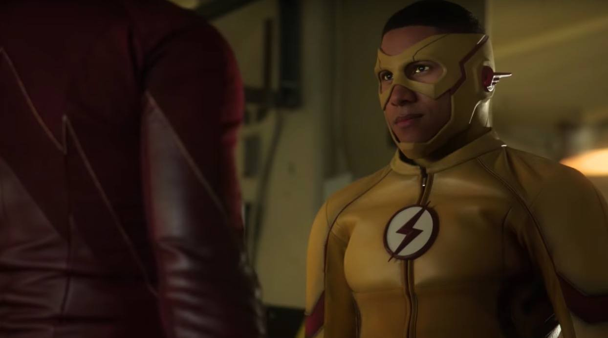 Wally West wears his yellow Kid Flash suit on The Flash