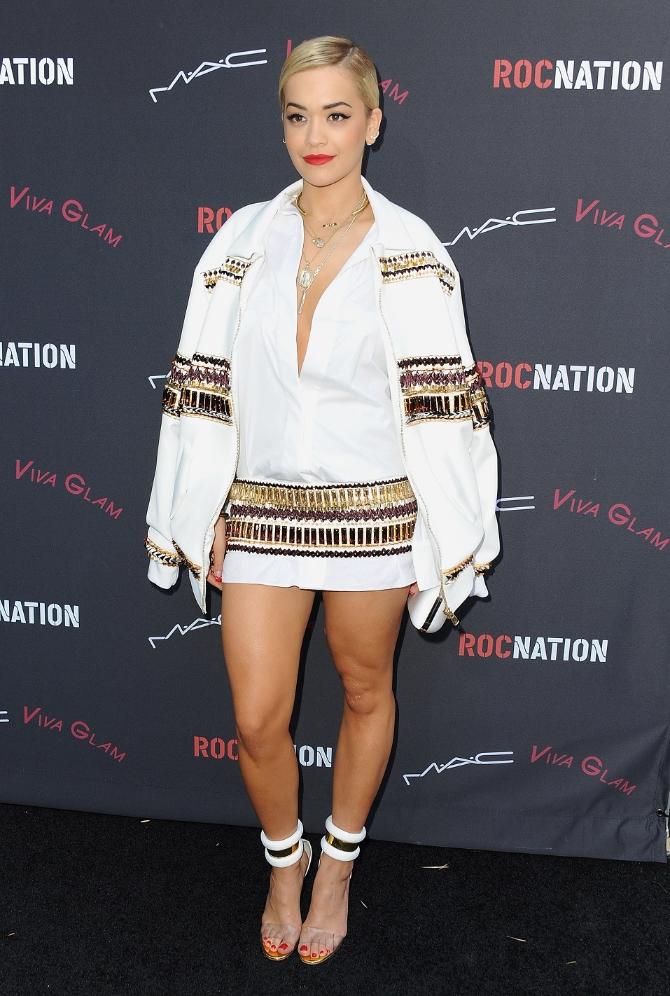 Singer/songwriter Rita Ora arrives at the Roc Nation