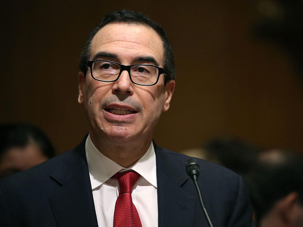 Treasury secretary nominee, Steven Mnuchin, testifies during his Senate Finance committee