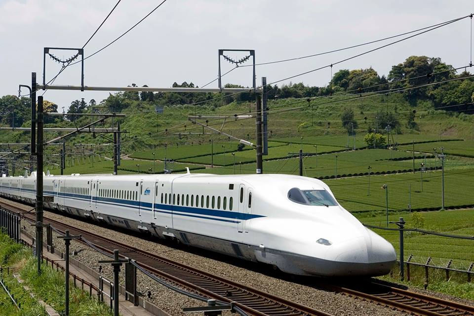 A bullet train proposed for the Texas Central Railway