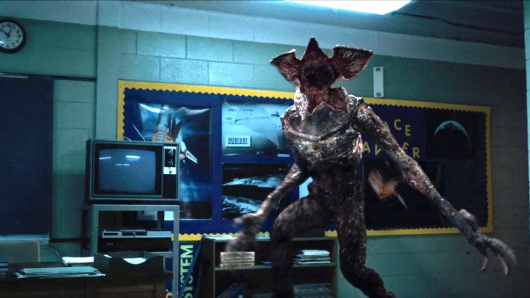 The Demogorgon on Stranger Things