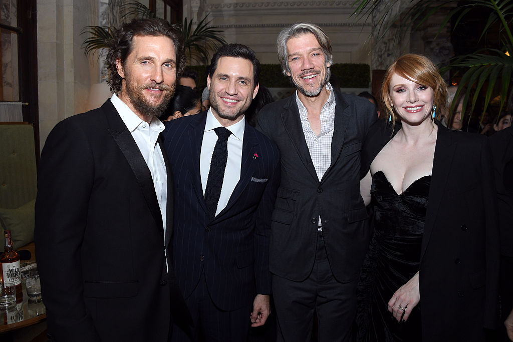 "Actors Matthew McConaughey, Edgar Ramirez Director Stephen Gaghan and Actress Bryce Dallas Howard attend the The World Premiere Of ""Gold"""