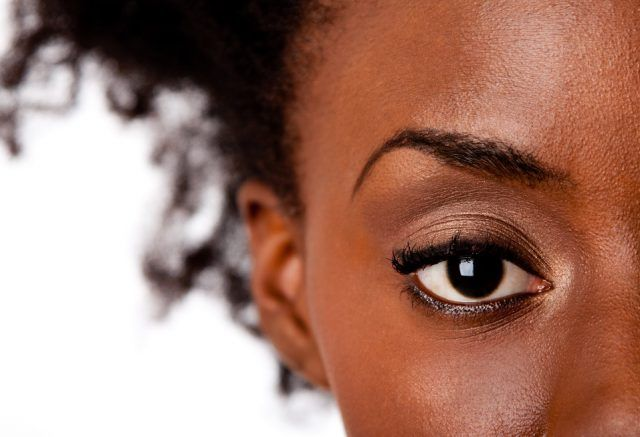 African American female's eye