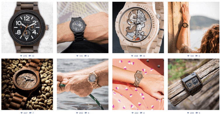 Various photos of WeWood Watches