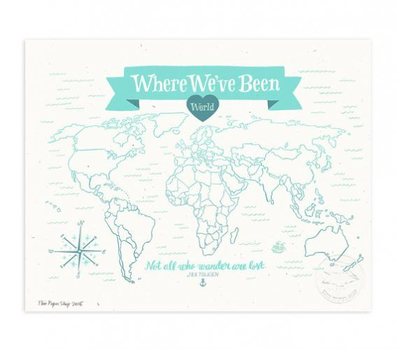 Product photo of Where We've Been: World Map