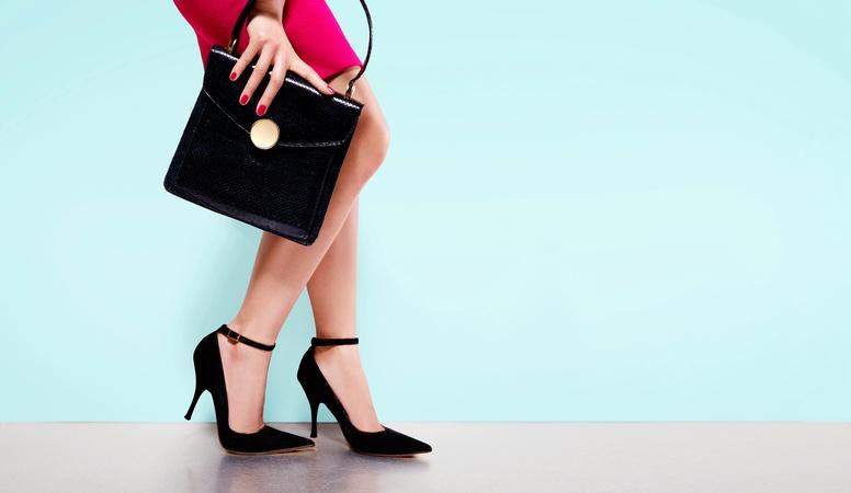 Woman wearing high heels shoes