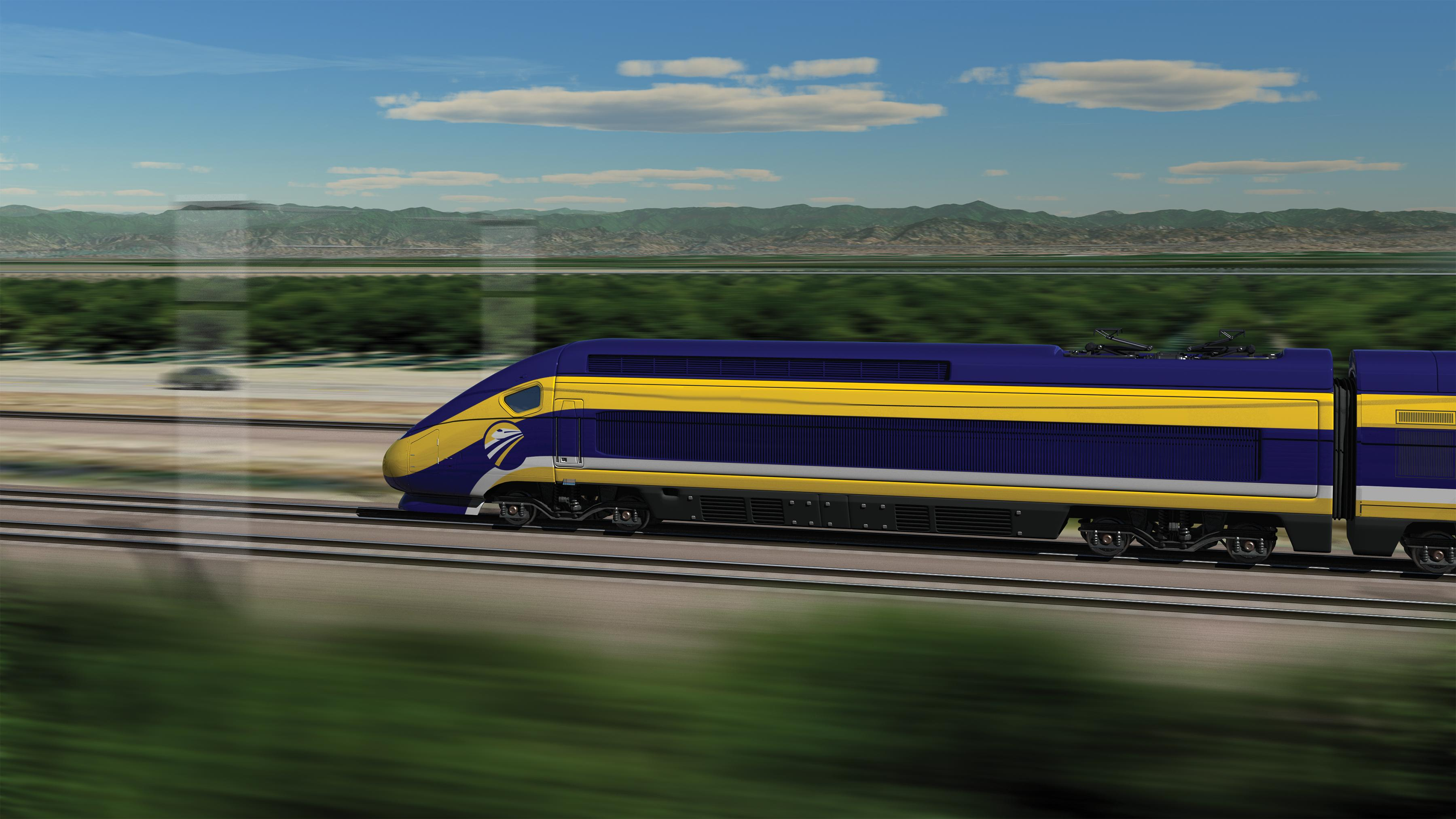 California high-speed rail concept art