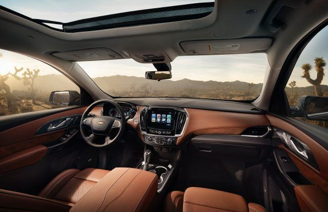 Spacious and swanky, the all-new Traverse looks more like a luxury SUV than a Chevy