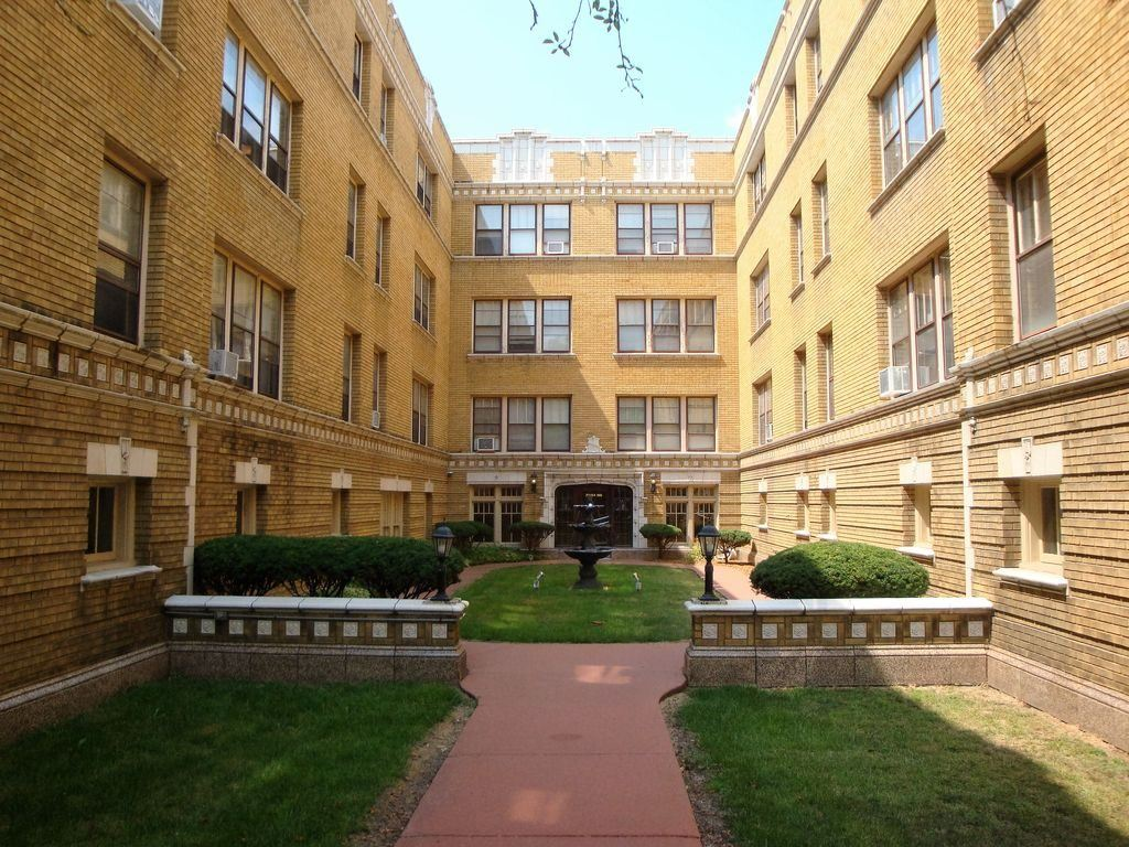 Apartment building courtyard