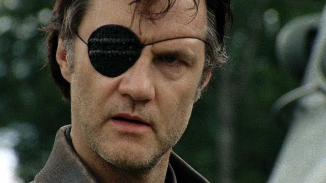 The Governor (David Morrissey) glares in a scene from 'The Walking Dead'