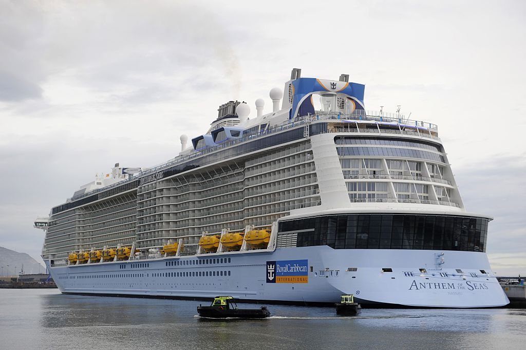 The Royal Caribbean's latest cruise liner 'Anthem Of The Seas', the third largest ship in the world