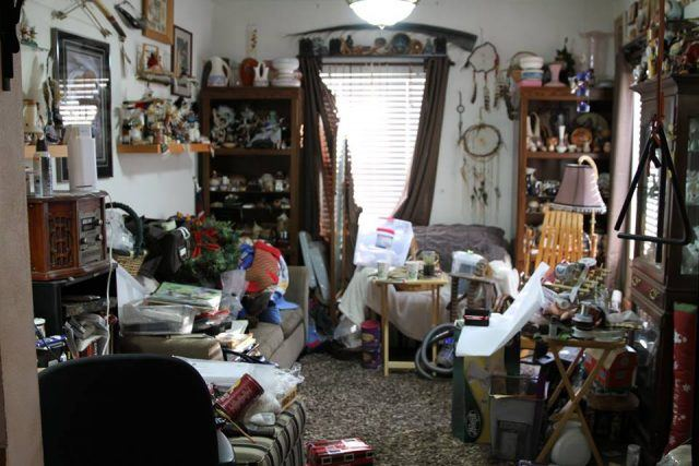 A hoarder's house on the show.