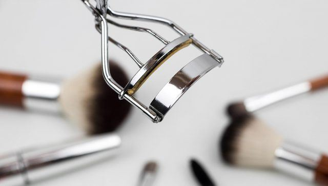 eyelash curler and other tools