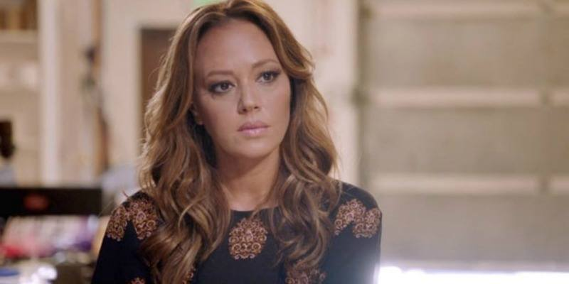 Leah Remini looking serious on Leah Remini: Scientology and the Aftermath