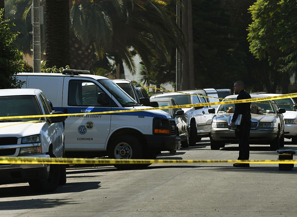 los angeles crime scene