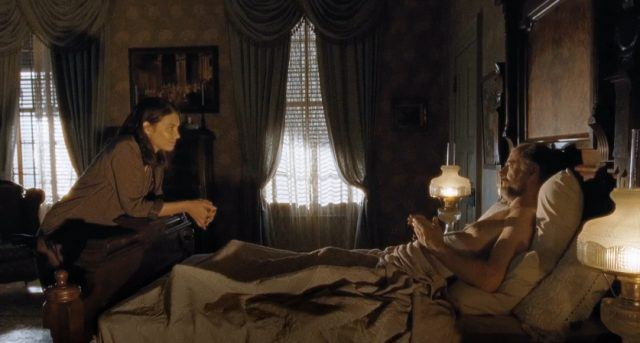 """Maggie negotiates with a bed-ridden Gregory in 'The Walking Dead' episode """"Knots Untie"""""""