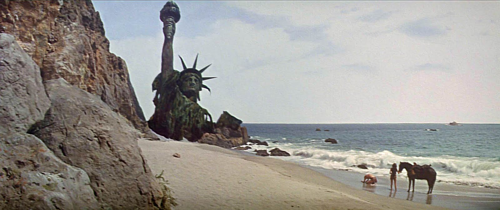 New York, NY could one day look like a scene from Planet of the Apes after decades of climate change