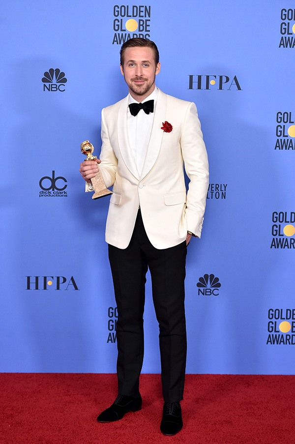 Ryan Gosling in white and black