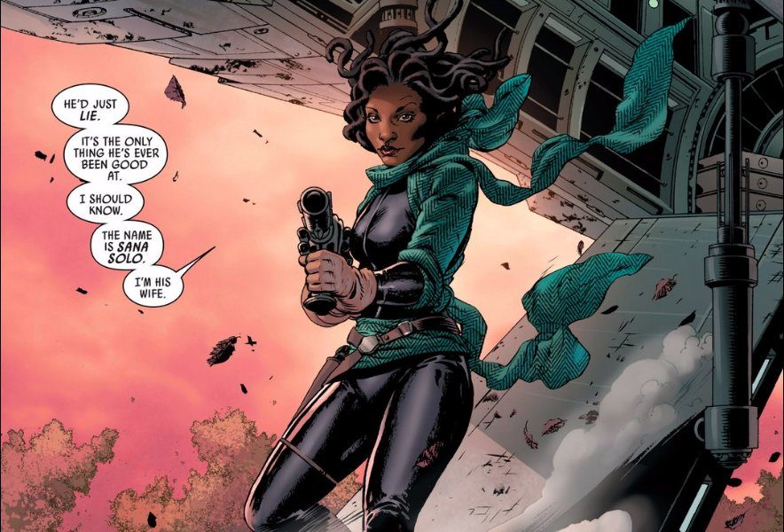 Sana Solo in the Star Wars comic series