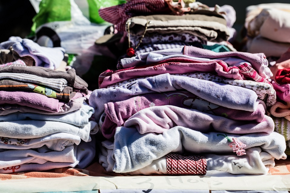 secondhand baby clothes and pyjamas for reusing