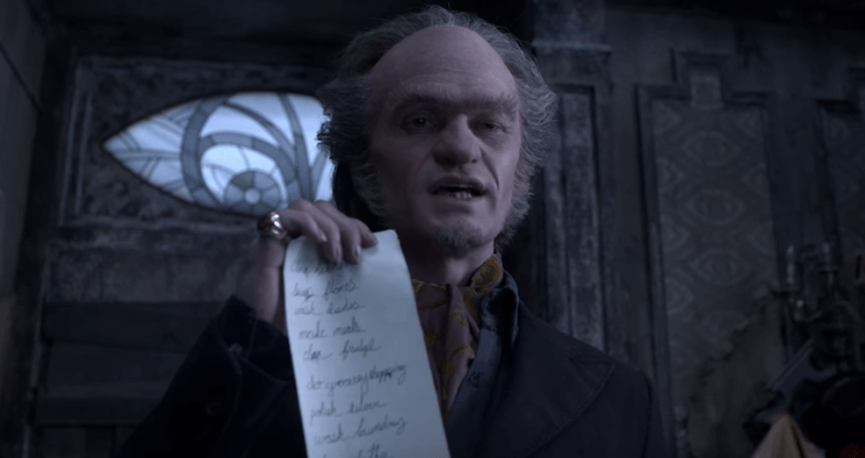 Neil Patrick Harris plays the evil Count Olaf in Netflix's A Series of Unfortunate Events