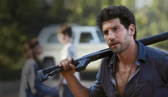 Shane (Jon Bernthal) holds his rifle in a scene from 'The Walking Dead'