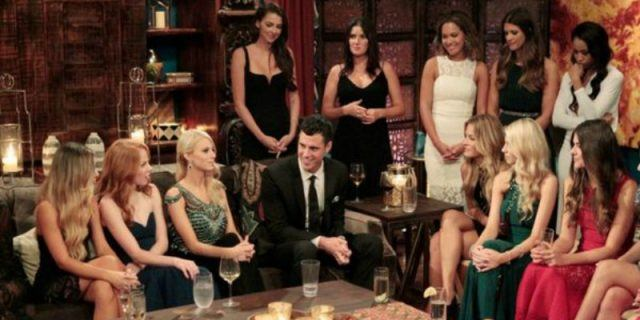 Contestants on 'The Bachelor' sitting together.