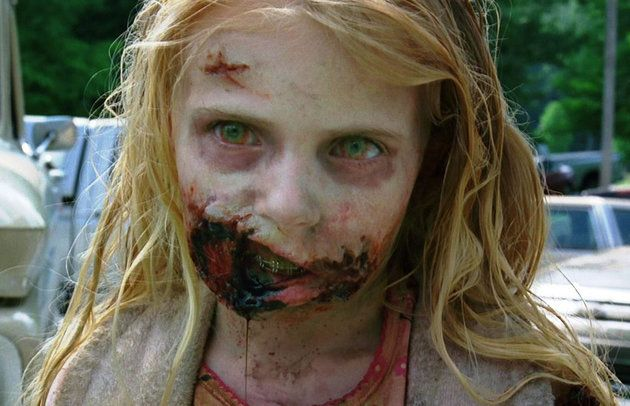 The little girl with the bunny slippers from the first scene in 'The Walking Dead'