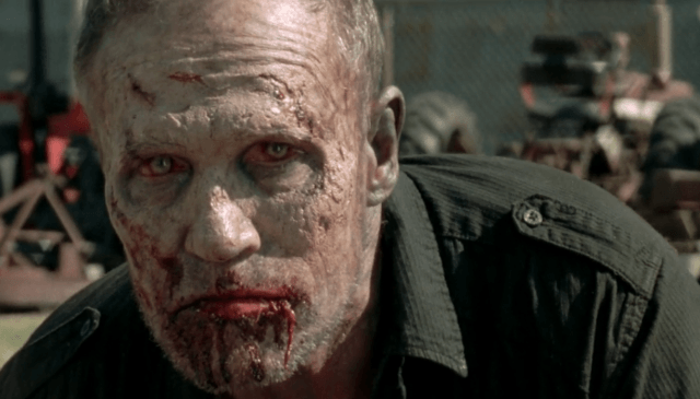 """Merle (Michael Rooker), recently zombified, in a scene from 'The Walking Dead' episode """"This Sorrowful Life"""""""