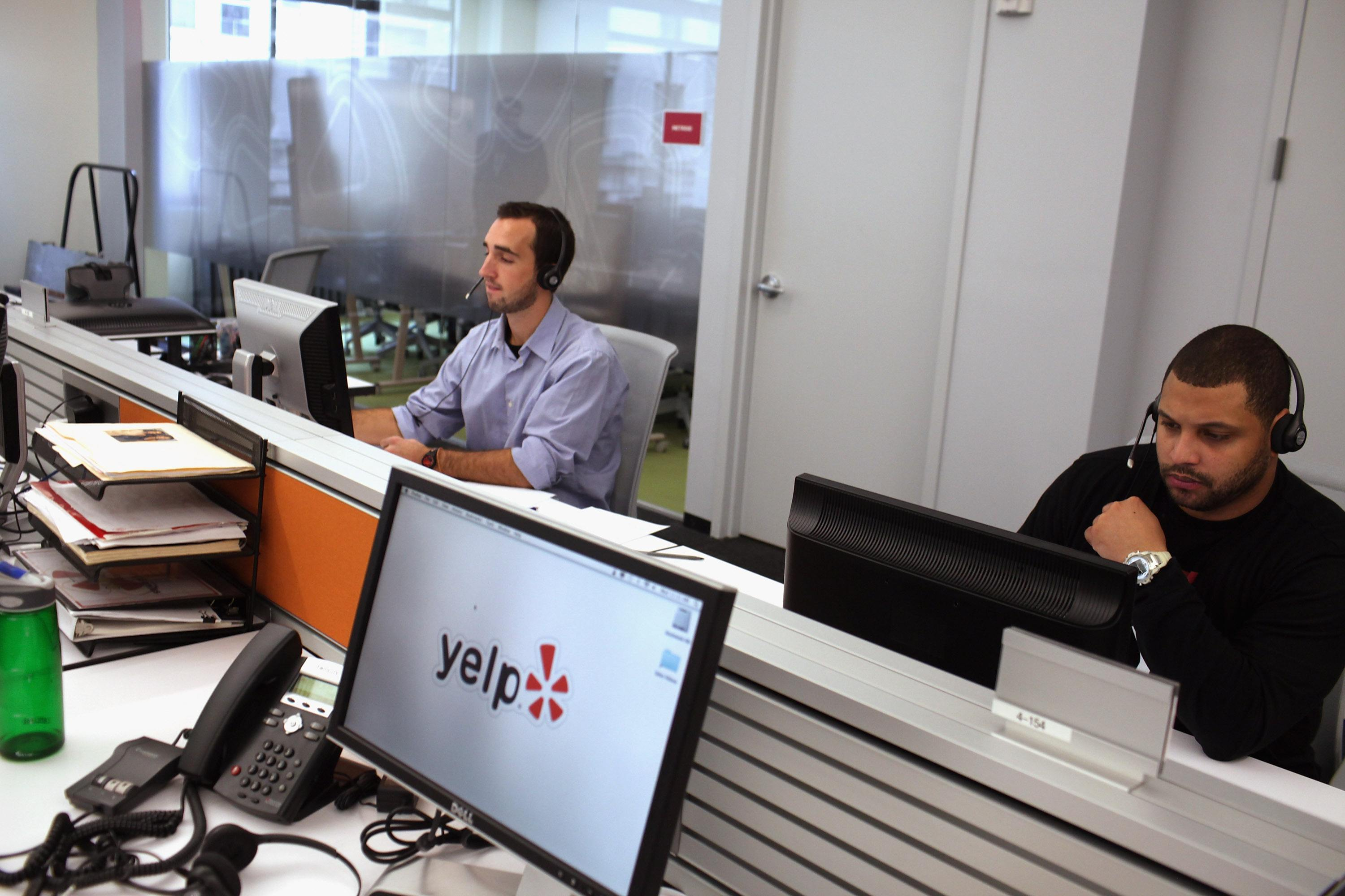 Employees of the online review site Yelp