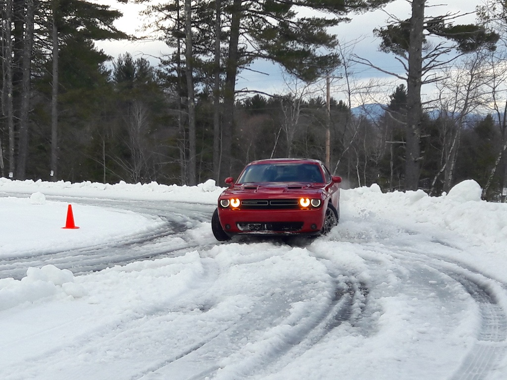 Dodge Challenger GT in the snow
