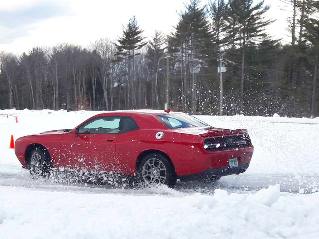2017 Dodge Challenger GT in the snow