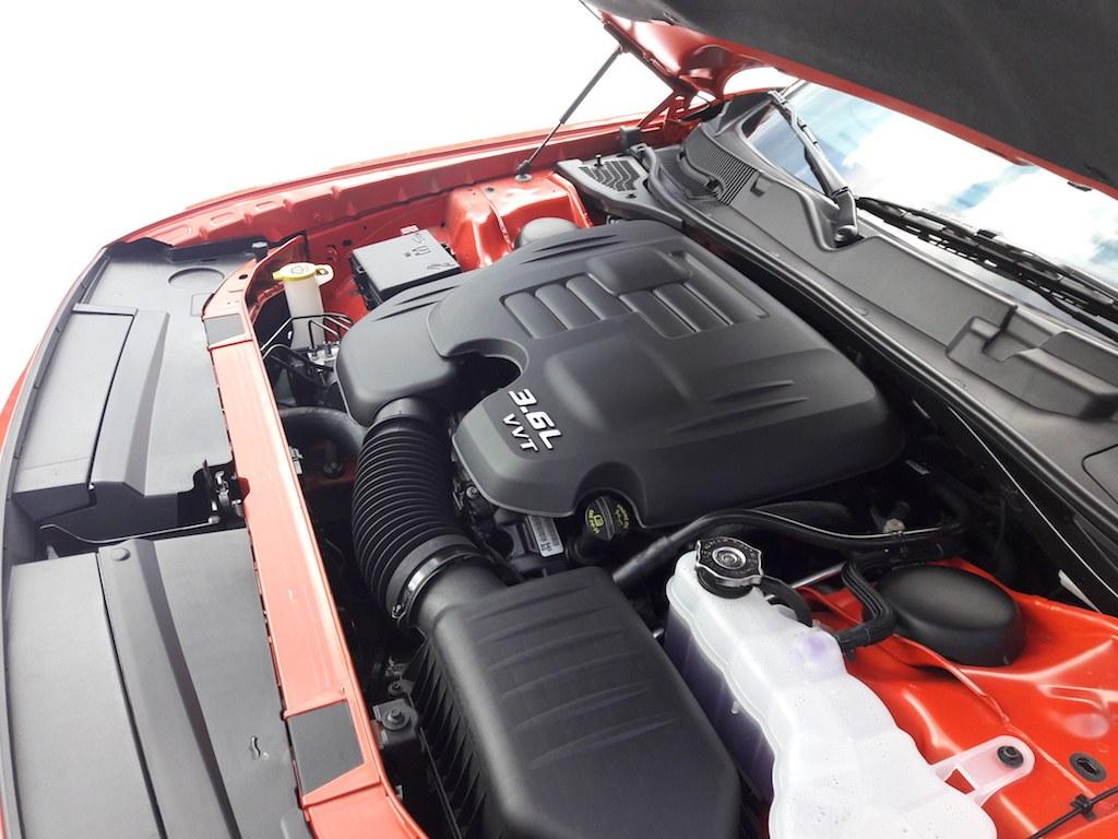 The 2017 Dodge Challenger GT's 3.6 liter V6 engine