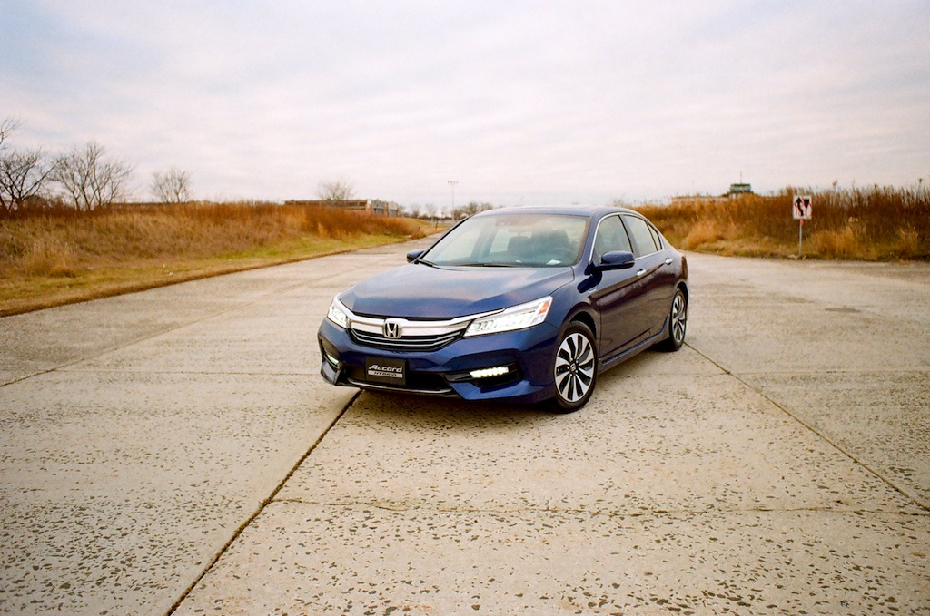 The 2017 Honda Accord Hybrid in blue.