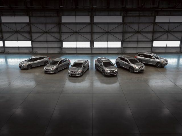 The entire Midnight Edition family lineup   Nissan