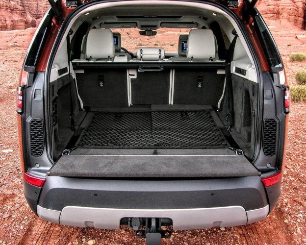 The 5th Generation Land Rover Discovery has one of the most spacious cabins in the luxury segment and both rear rows can be folded flat remotely via smartphone | Micah Wright/Autos Cheat Sheet