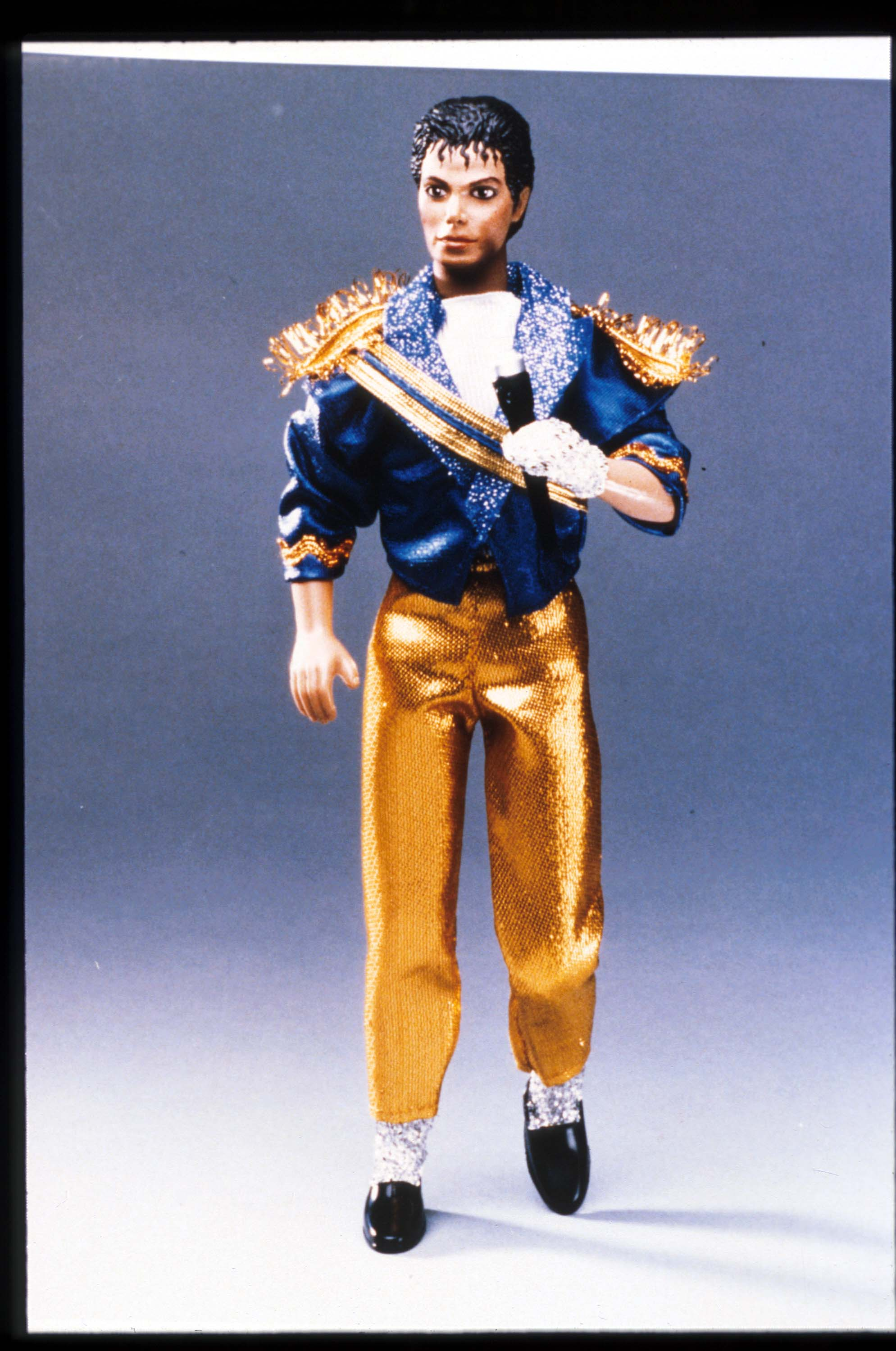 A doll of the entertainer Michael Jackson