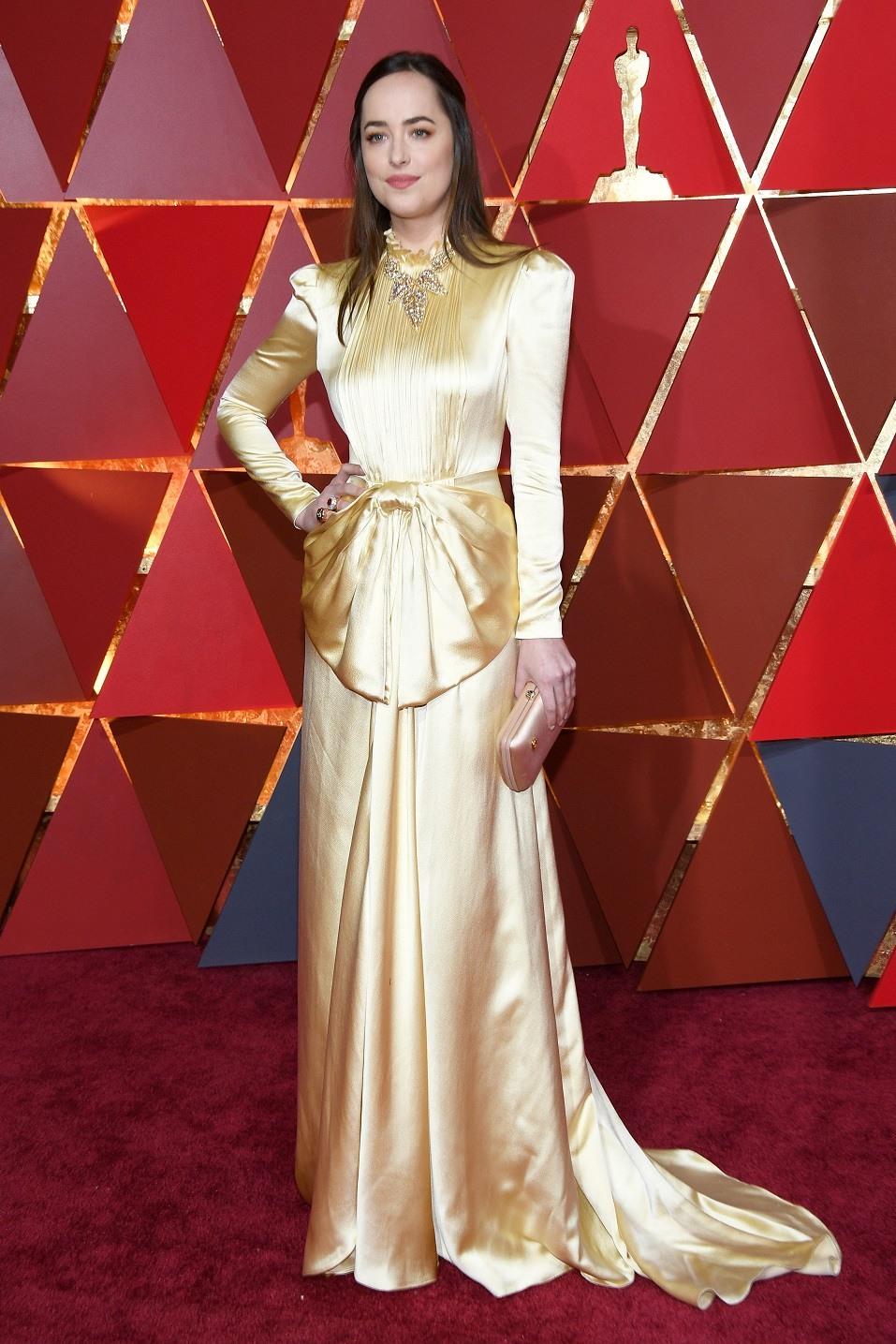 Actor Dakota Johnson attends the 89th Annual Academy Awards