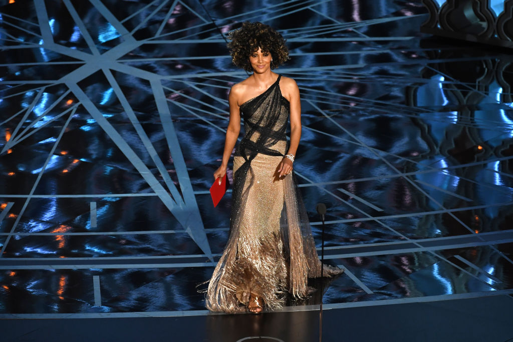 Actor Halle Berry walks on stage