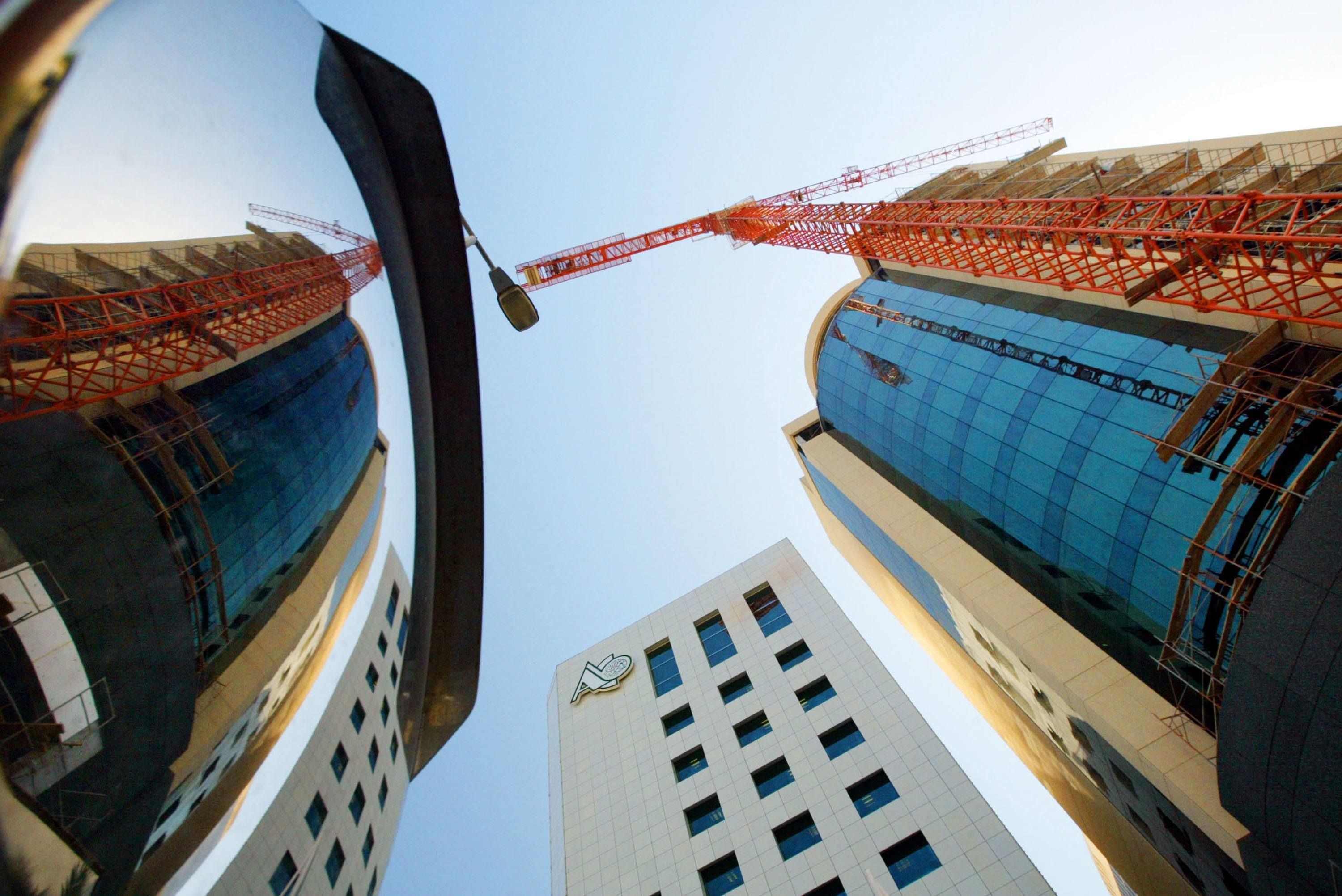 Buildings are under construction to accommodate the influx of business as the banking industry continues to grow in Bahrain