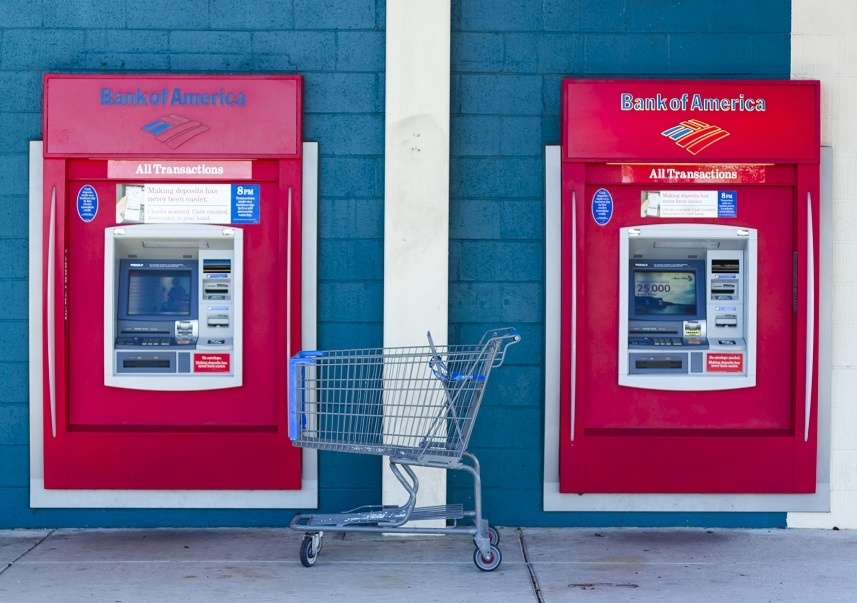 Bank of America ATM machines