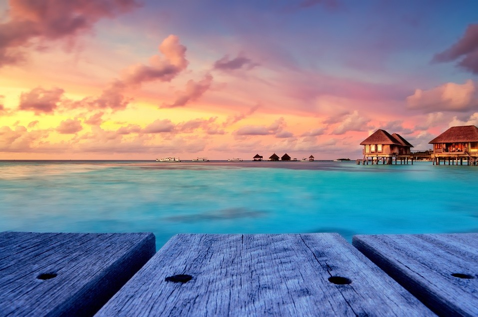 cloudy day in Maldives