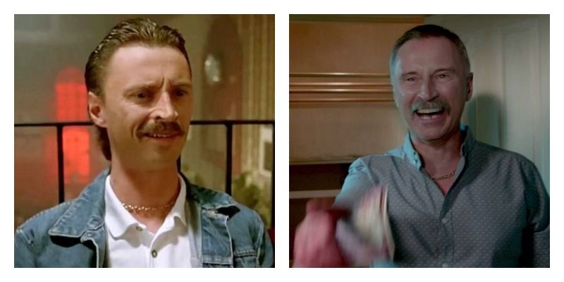 Robert Carlyle in Trainspotting and Trainspotting 2 side by side