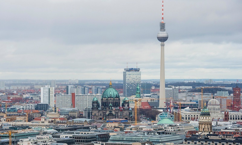 the berlin skyline during the day