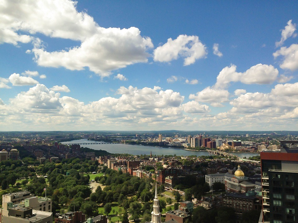 Cambridge, Massachusetts, view from sky