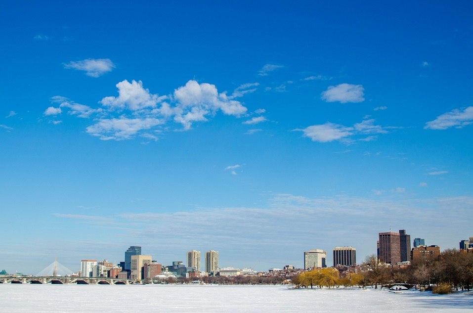 Boston skyline in Massachusetts
