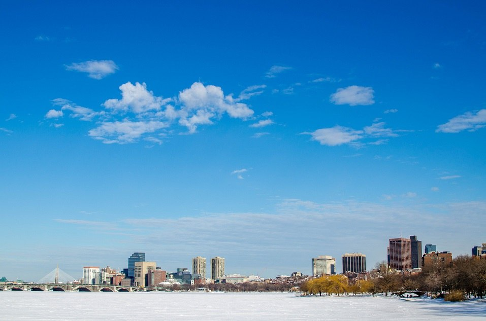 Boston skyline in Massachusetts