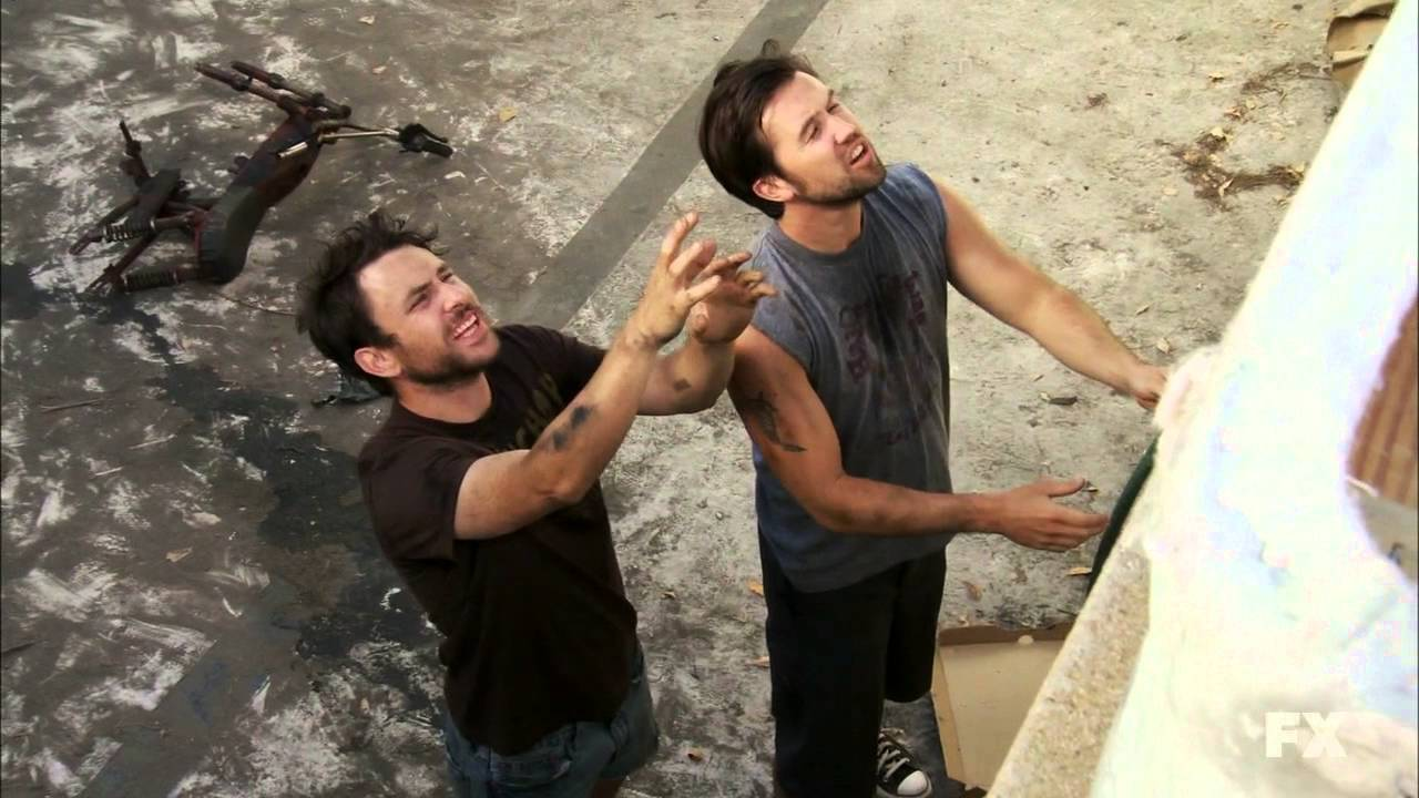"Mac and Charlie from ""It's Always Sunny in Philadelphia"" struggle to overcome issues related to income inequality and social status"