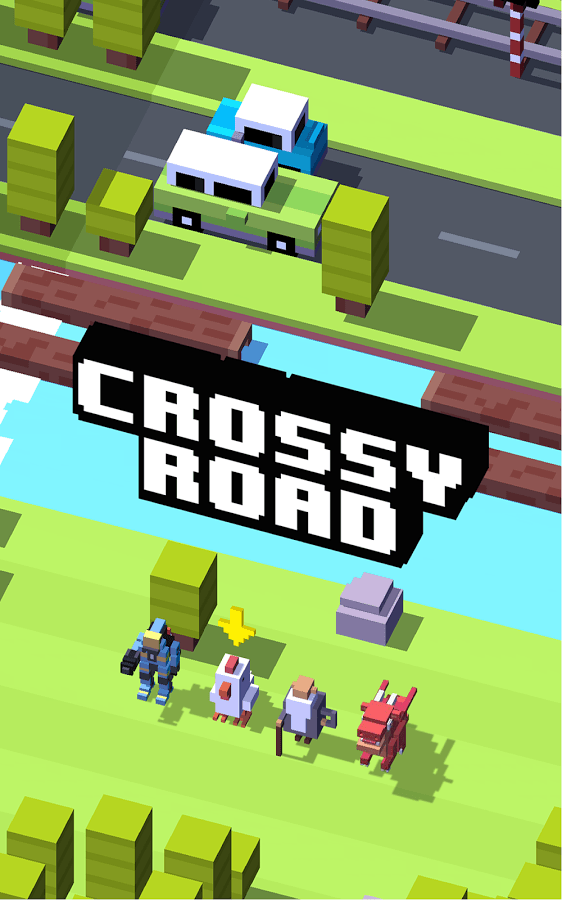 Screenshot of Crossy Road